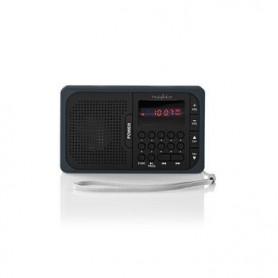 RADIO FM 3,6 W PORTA USB + SLOT PER SCHEDA microSD  Nero/Grigia