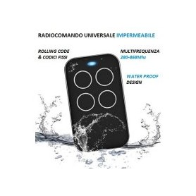 RADIOCOMANDO 280-868Mhz UNIVERSALE COLORE NERO