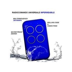 RADIOCOMANDO UNIVERSALE ROLLING CODE + FISSI MULTIFREQUENZA 280-868Mhz BLU