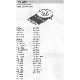 SELETTORE FUNZIONI SHARP FS-286