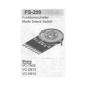 SELETTORE FUNZIONI SHARP FS-289