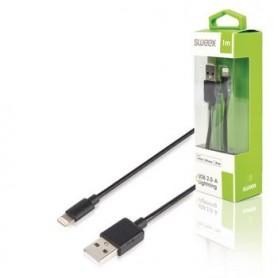 Sincronizzazione e Ricarica Apple Lightning - USB A Maschio 1 m Nero