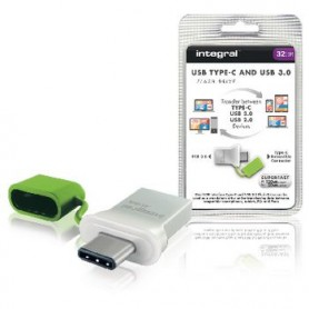 UNITA\' FLASH USB 3.0 32 GB Aluminium/Verde